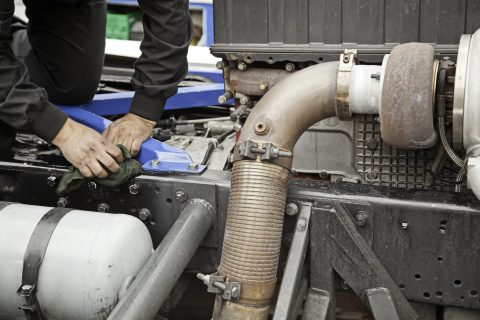 DPF on a truck